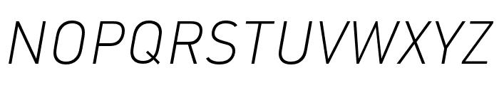URW DIN XLight Italic Font UPPERCASE
