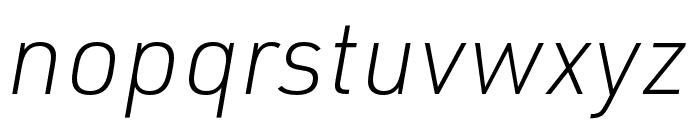 URW DIN XLight Italic Font LOWERCASE