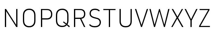 URW DIN XLight Font UPPERCASE