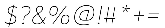 URW Form Cond Medium Italic Font OTHER CHARS