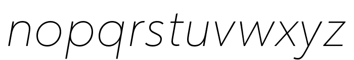 URW Form Medium Italic Font LOWERCASE