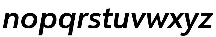 URW Form SemiCond Extra Bold Italic Font LOWERCASE