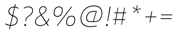 URW Form SemiCond Medium Italic Font OTHER CHARS