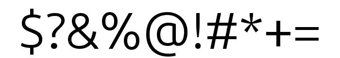 Ubuntu Light Font OTHER CHARS