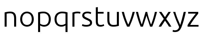 Ubuntu Light Font LOWERCASE