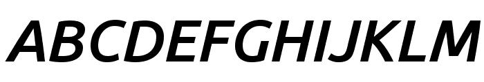 Ubuntu Medium Italic Font UPPERCASE