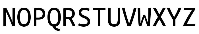 Ubuntu Mono Regular Font UPPERCASE