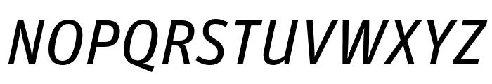 Unit Pro Regular Italic Font UPPERCASE