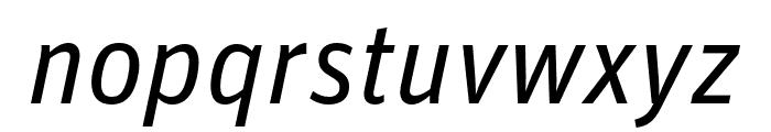 Unit Pro Regular Italic Font LOWERCASE