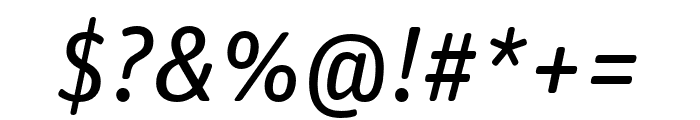 Unit Rounded Pro Italic Font OTHER CHARS