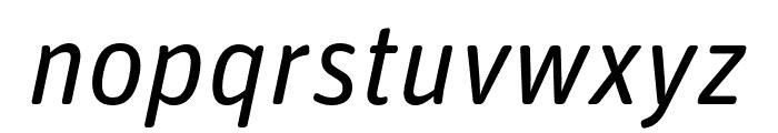 Unit Rounded Pro Italic Font LOWERCASE