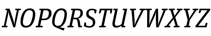 Unit Slab Pro Regular Italic Font UPPERCASE