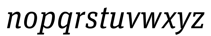 Unit Slab Pro Regular Italic Font LOWERCASE