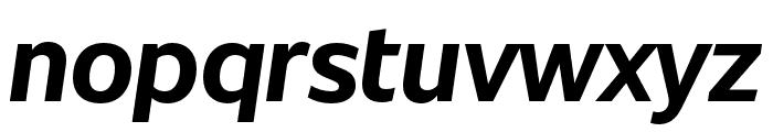 Unitext Bold Italic Font LOWERCASE