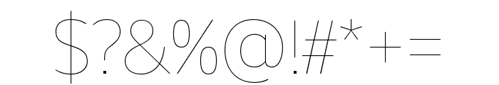 Unitext Hairline Font OTHER CHARS