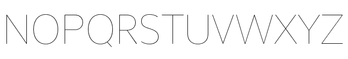 Unitext Hairline Font UPPERCASE