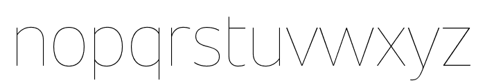 Unitext Hairline Font LOWERCASE