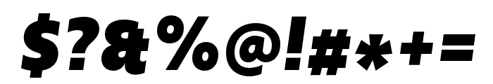 Upgrade Black Italic Font OTHER CHARS