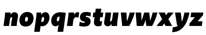 Upgrade Black Italic Font LOWERCASE
