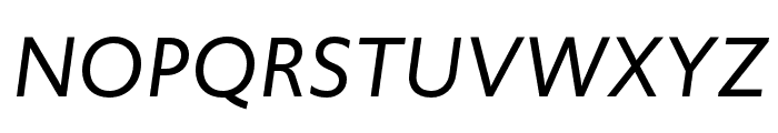 Upgrade Extra Light Italic Font UPPERCASE