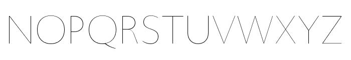 Upgrade Hairline Font UPPERCASE