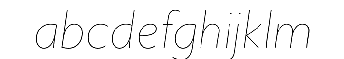 Upgrade Thin Italic Font LOWERCASE