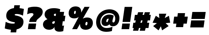 Upgrade Ultra Black Italic Font OTHER CHARS
