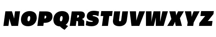 Upgrade Ultra Black Italic Font UPPERCASE