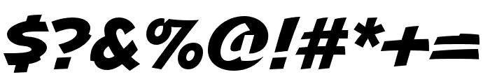 Uppercut Angle Regular Font OTHER CHARS