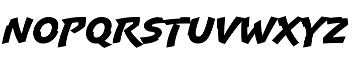 Uppercut Angle Regular Font UPPERCASE