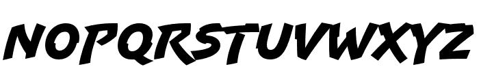 Uppercut Angle Regular Font LOWERCASE