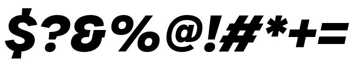 Urbane Bold Italic Font OTHER CHARS