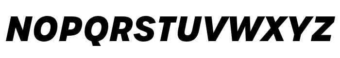 Urbane Bold Italic Font UPPERCASE
