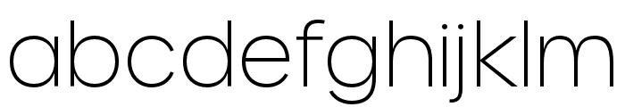 Urbane Extra Light Font LOWERCASE