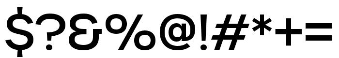 Urbane Medium Font OTHER CHARS