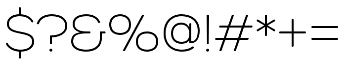 Urbane Rounded Extra Light Font OTHER CHARS