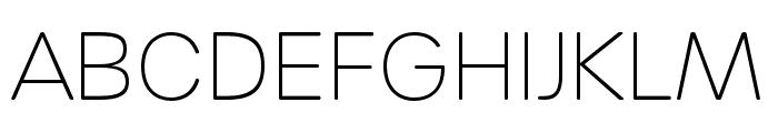 Urbane Rounded Extra Light Font UPPERCASE