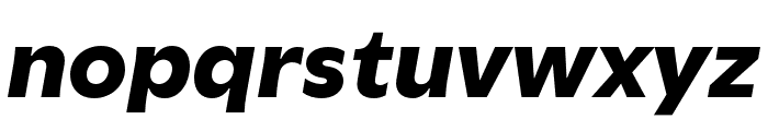 Utile Black Italic Font LOWERCASE