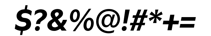 Utile Bold Italic Font OTHER CHARS