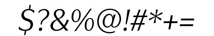 Utile Display Italic Font OTHER CHARS