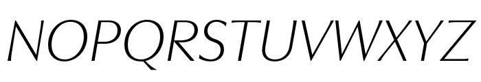 Utile Display Light Italic Font UPPERCASE