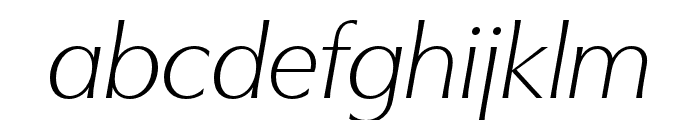 Utile Display Light Italic Font LOWERCASE