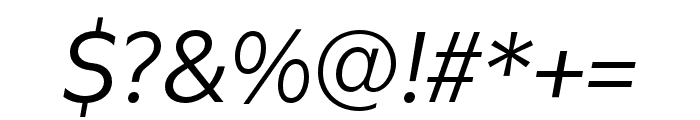 Utile Italic Font OTHER CHARS