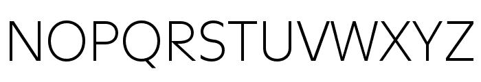 Utile Light Font UPPERCASE