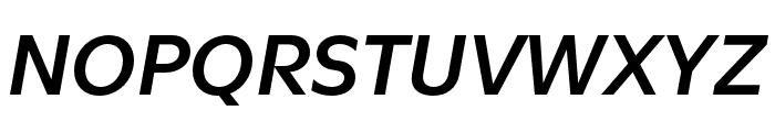 Utile Semibold Italic Font UPPERCASE