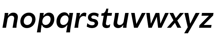 Utile Semibold Italic Font LOWERCASE