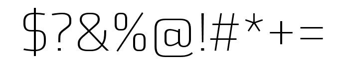 Utility Pro Extralight Font OTHER CHARS
