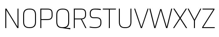 Utility Pro Extralight Font UPPERCASE