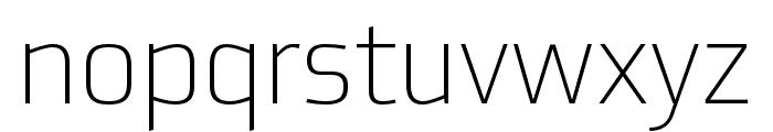 Utility Pro Extralight Font LOWERCASE