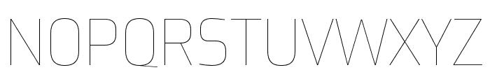 Utility Pro Thin Font UPPERCASE
